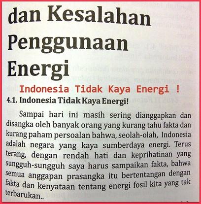 indonesia tidak kaya energi